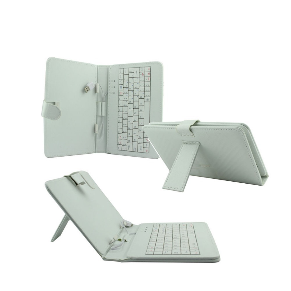 HIGH QUAALITY UNIVERSAL 8 INCH ANDROID MAGNETIC FOLD CASE STAND WITH USB KEYBOARD PC TABLET free shipping