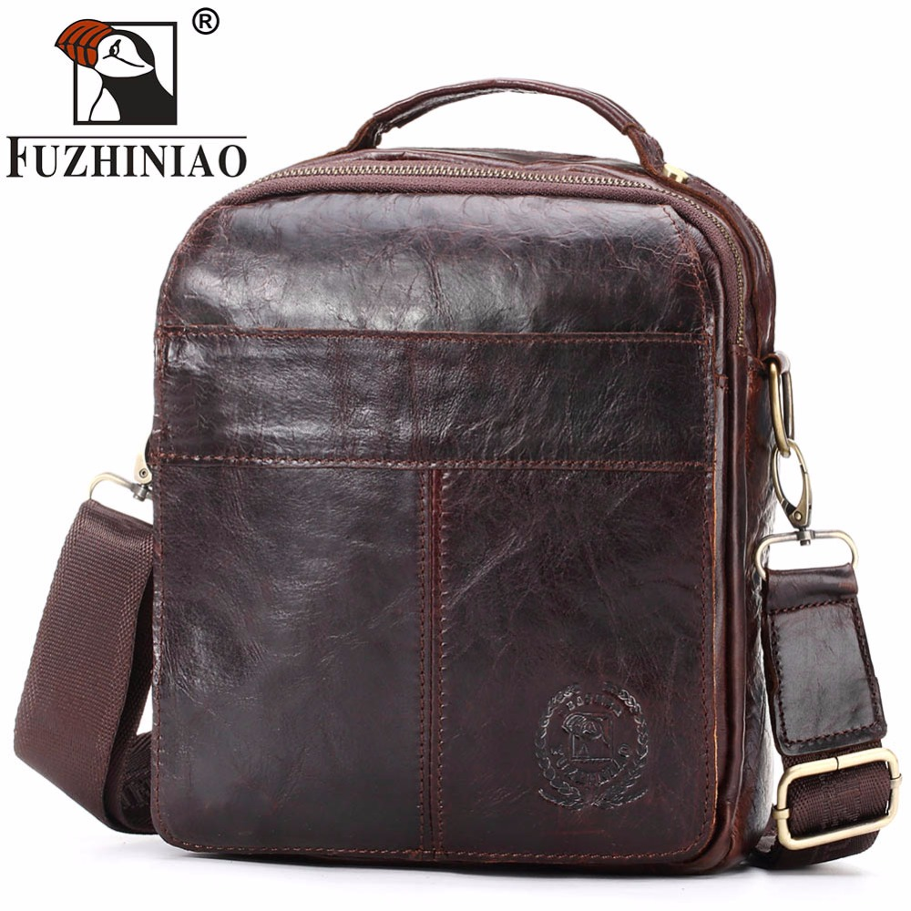 FUZHINIAO HOT!! Genuine Leather Bag Men Casual Travel Bolsa Flap Shoulder Crossbody Bags Brand Business Male Messenger Handbags mva genuine leather men s messenger bag men bag leather male flap small zipper casual shoulder crossbody bags for men bolsas