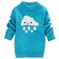 2017 новая мода осень и зима девочка свитер мальчики и девочки узор пуловеры свитер детская одежда