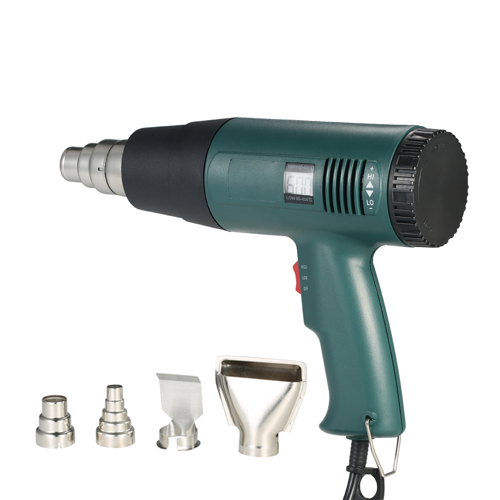 Air Heater Gun 1800W Electric Temperature-controlled Hot Air Gun Hair dryer Soldering hairdryer Gun build tool with 4pcs Nozzle 1800w ac220v new high quality digital hot air gun temperature controlled portable heat gun soldering hairdryer gun power tools