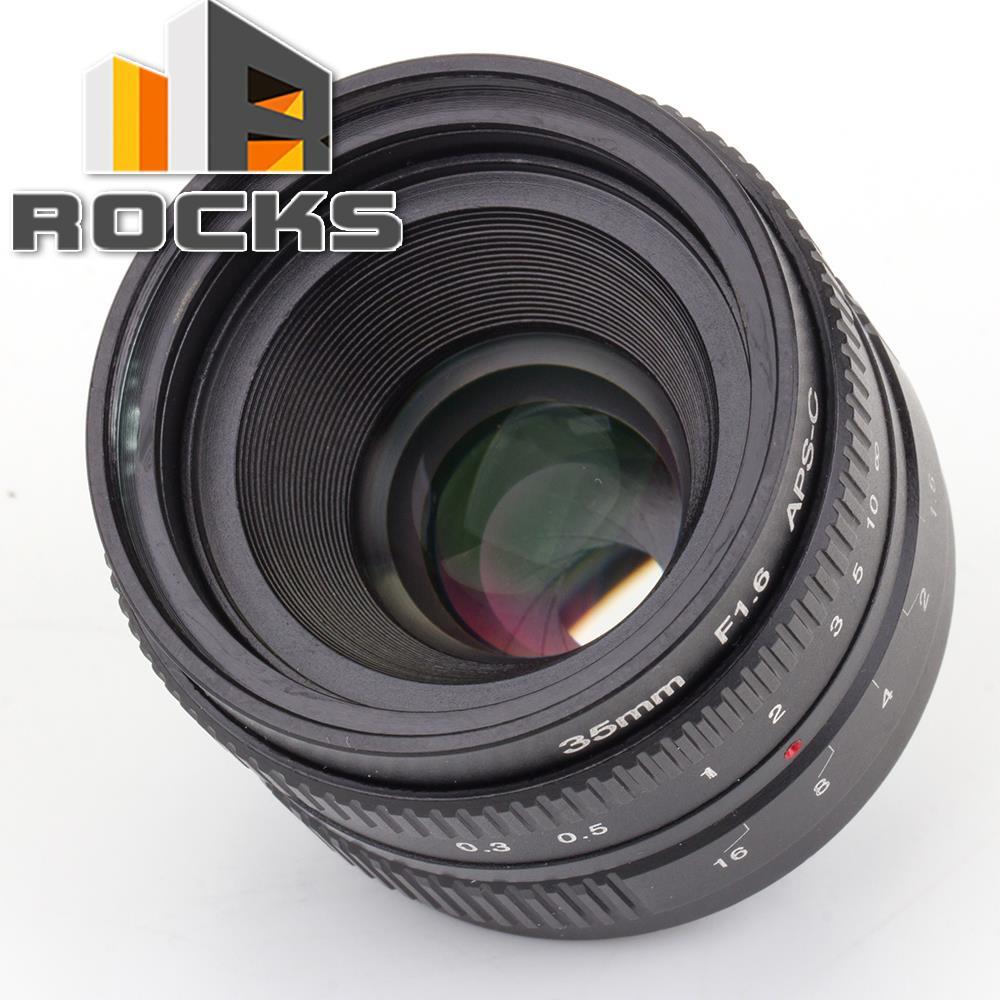 APS-C Television TV Lens/C CTV Lens For 16mm C Mount Camera 35mm F1.6 Black