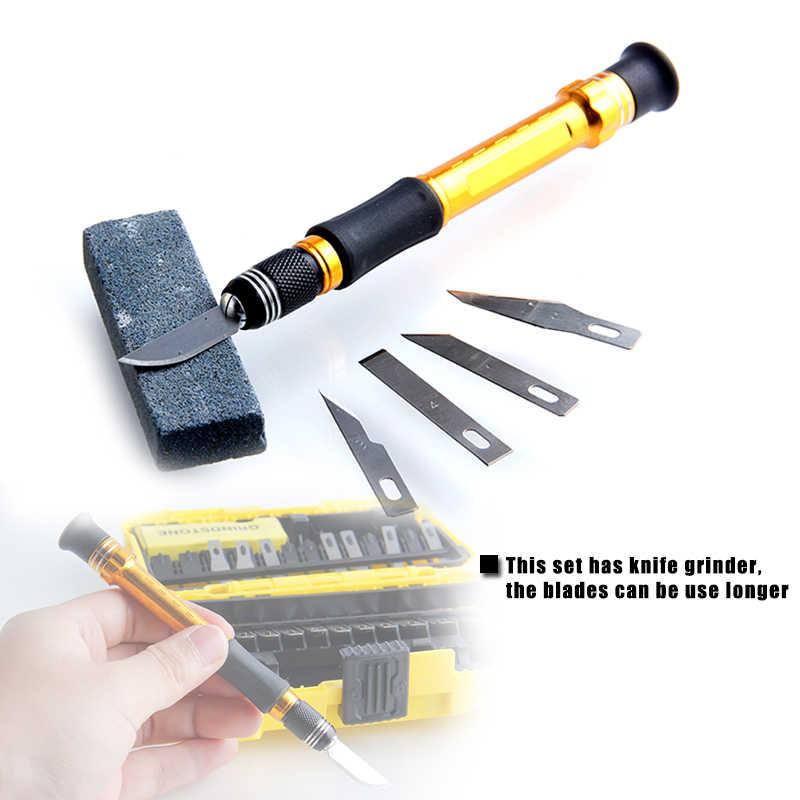 ردير 29 قطعة الخشب نحت سكين المعادن الحرفية النحت DIY بها بنفسك النقش القلم أدوات يدوية مع شفرات SK5 مع الملقط طحن