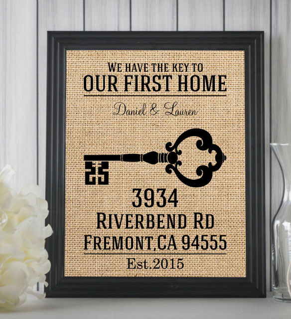 Delightful Our First Home,Personalized Home Gift,Custom First Home Sign,Personalized  Housewarming Gift