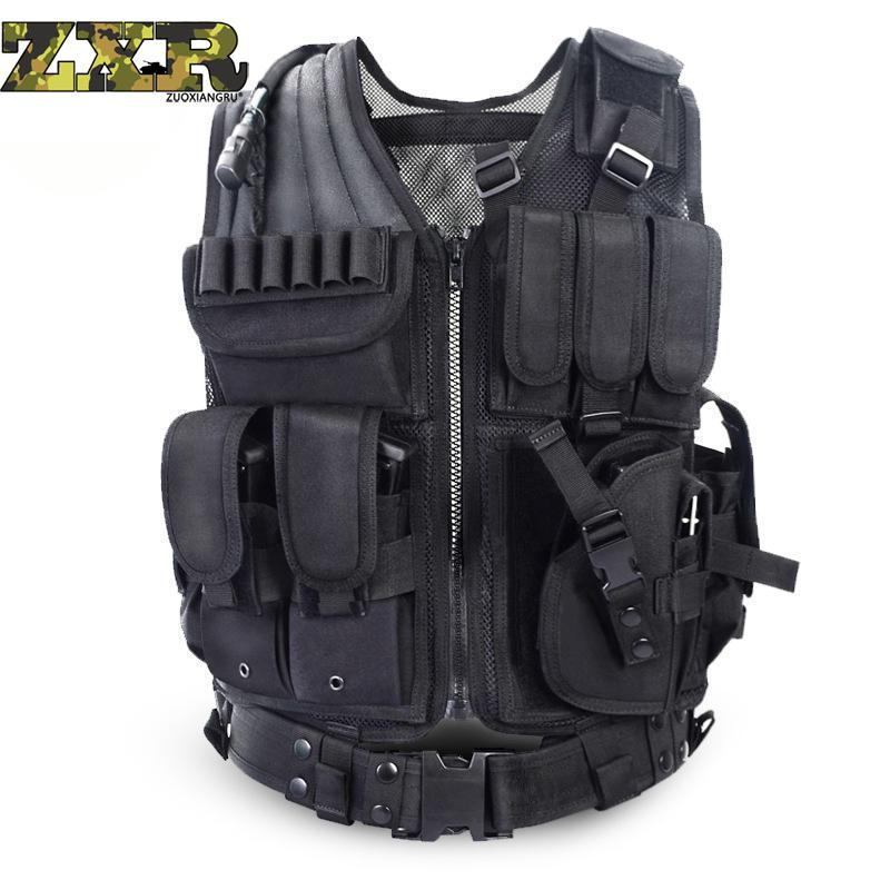 Molle Equipment Military Tactical Army Polyester Airsoft sport Breathable Lightweight Vest for Camping Hiking CS Game Accessory