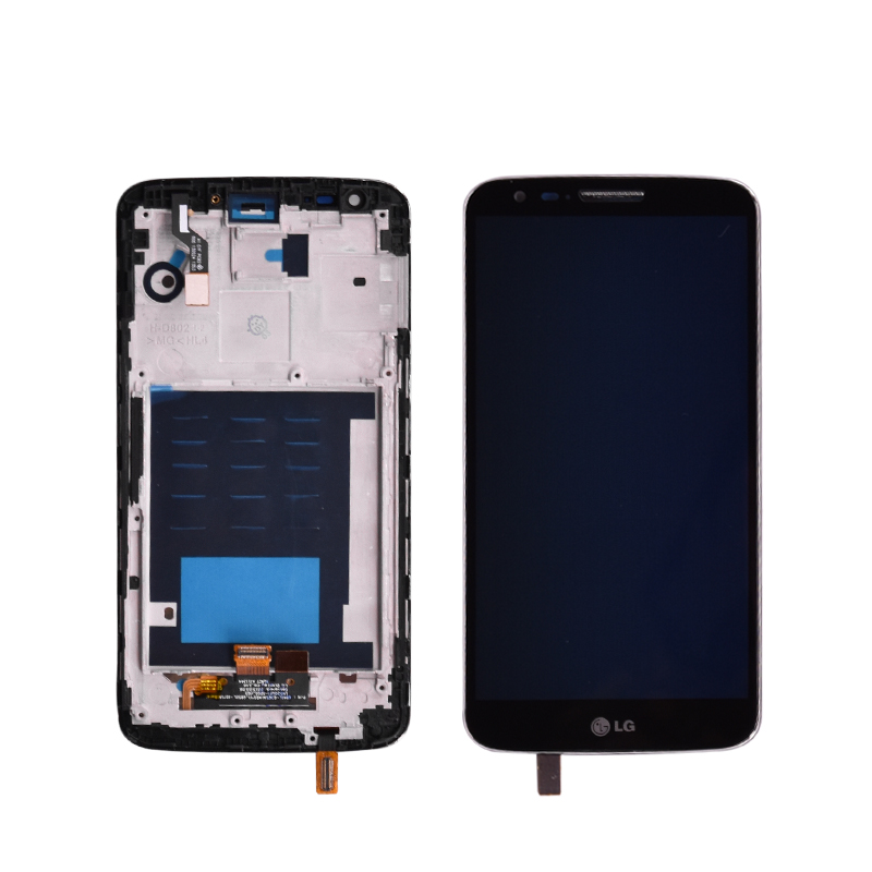 Original For LG G2 D802 LCD Display Touch Screen + Digitizer Assembly With Frame Black And White Lcd Without Frame For G2 D802