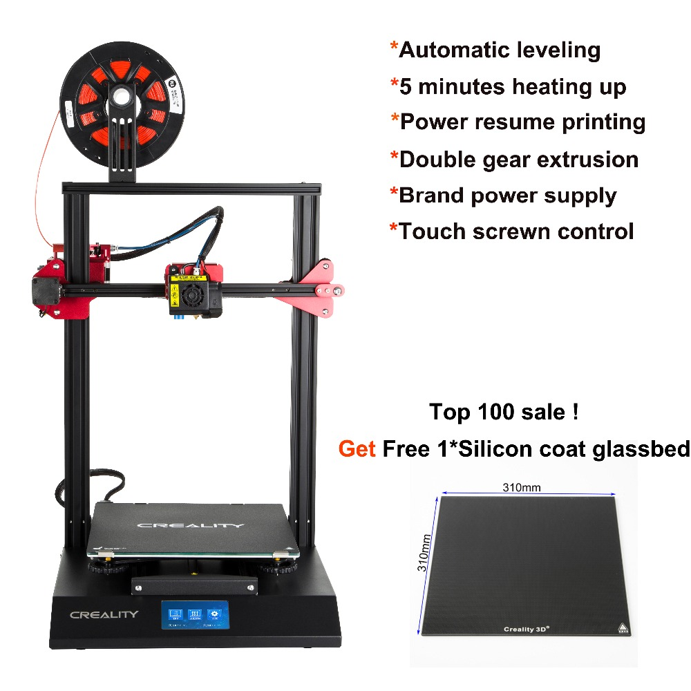 CREALITY CR 10S Pro 3D Printer assembled Auto Leveling Touch LCD Double Extrusion Resume Printing Filament