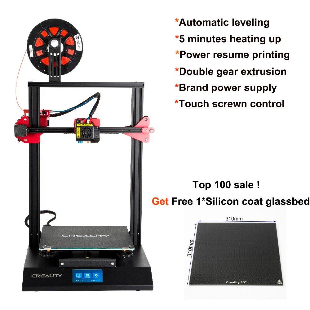 CRIATIVIDADE CR-10S Pro 3D montado Auto Nivelamento Impressora Funtion Detecção De Toque LCD Dupla Impressão Filamento Extrusão Currículo
