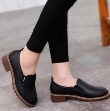 2018 new style Women Flat Shoes Round Toe Oxford Shoes Woman PU Women bullock Shoes Free Shipping