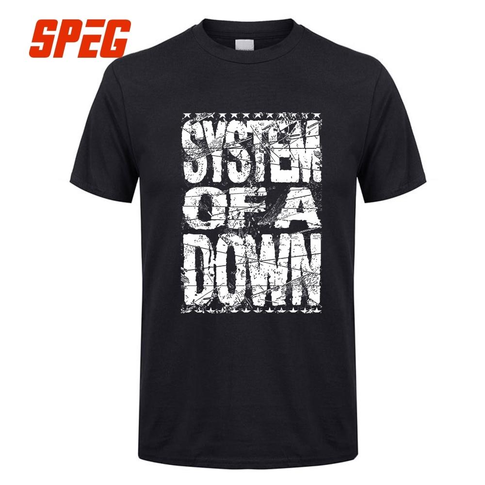 SPEG System Of A Down Vintage Logo T font b Shirt b font font b Men