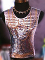 New style fashion silver red green male singer dancer sequins chains vest costume palace punk style jazz vest ds dj outerwear