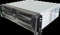 Caja de la Computadora Industrial 3U380mm plástico de bloqueo del panel de Chasis de Servidor de supervisión