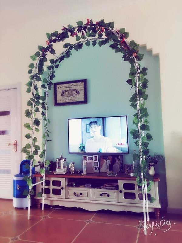 Livraison gratuite, décoration de mariage arche en métal. blanc hauteur 240 CM, Arches fleur. fournitures de jardin,