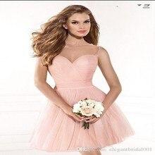 U-ausschnitt tüll Formale Kurzen rosa Spitze abendkleider elegante hochzeit kleid