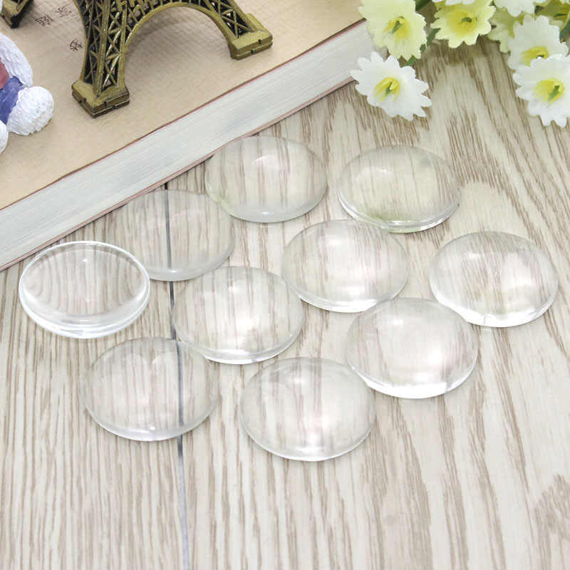 8mm 10mm 12mm 14mm 16mm 18mm 20mm 25mm 30mm Round Flat Back Clear Glass Cabochon, High Quality, New store Promotion