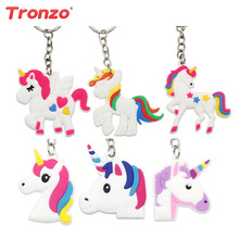Tronzo 5Pcs Unicorn Key Chain Birthday Party Party Decoration Kids Rubber Key Ring Hanging Decoration Unicorn Childern Party Pavilions