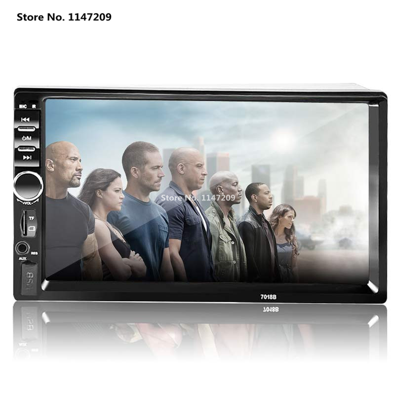 2 Din Car Video Player 7'' HD Touch Screen 1080P Bluetooth Stereo Radio FM/SD/MP4/MP5/Audio/USB/TF Auto Electronics In Dash eincar in dash single din one din car stereo dvd cd player lcd screen mp3 fm usb sd card receiver with wireless remote control