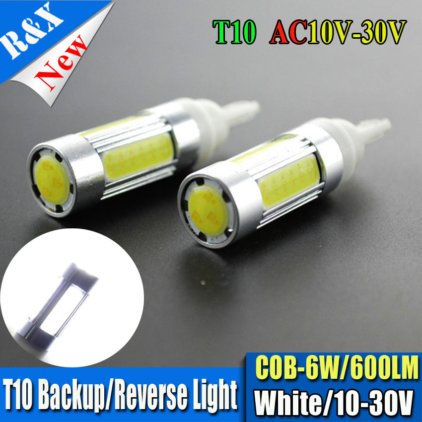 2pcs Hot Sale T10 W5W 194 168 6W COB LED High Power 600LM Car Auto Wedge Side Lights Reverse Parking Bulb Backup Lamp 10V-30V