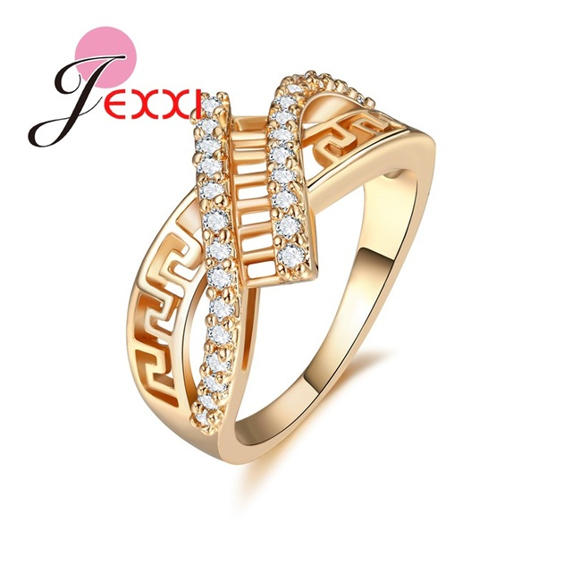 f34fd2a5e3d287 PATICO Musical Instrument Design Gold Plated Women Rings Jewelry For  Cocktail Party Dress Ball Tiny Imitated Crystal Ring