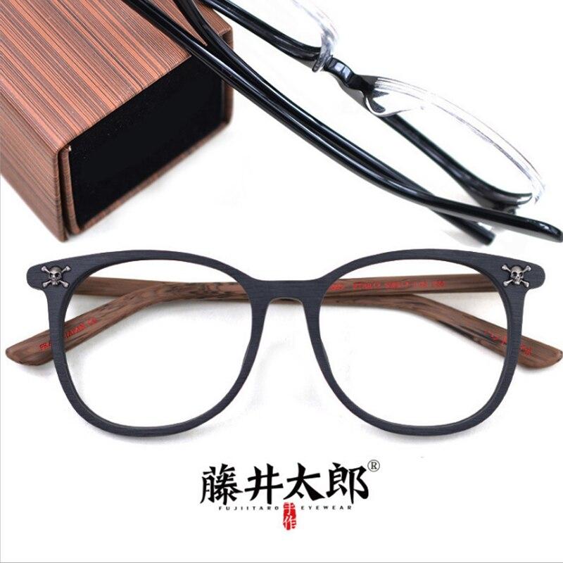 TARO FUJII lunettes de vue hommes femmes Vintage acétate myopie ordinateur optique clair lentille lunettes cadre mâle FT8872