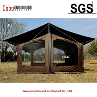 Супер 8 10 человек семья Кемпинг черное покрытие дождь доказательство большая палатка солнце затенение брезент экран