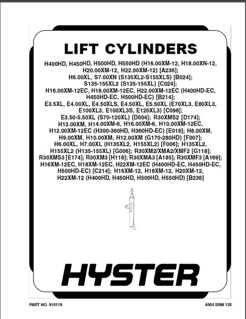 new hyster forklift repair manuals pdf 2018 for full models euro rh aliexpress com Hyster 50 Forklift Weight Hyster S50FT Fly Wheel