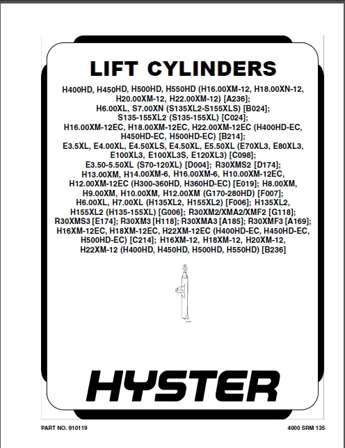 New Hyster Forklift Repair Manuals PDF 2019 for FULL
