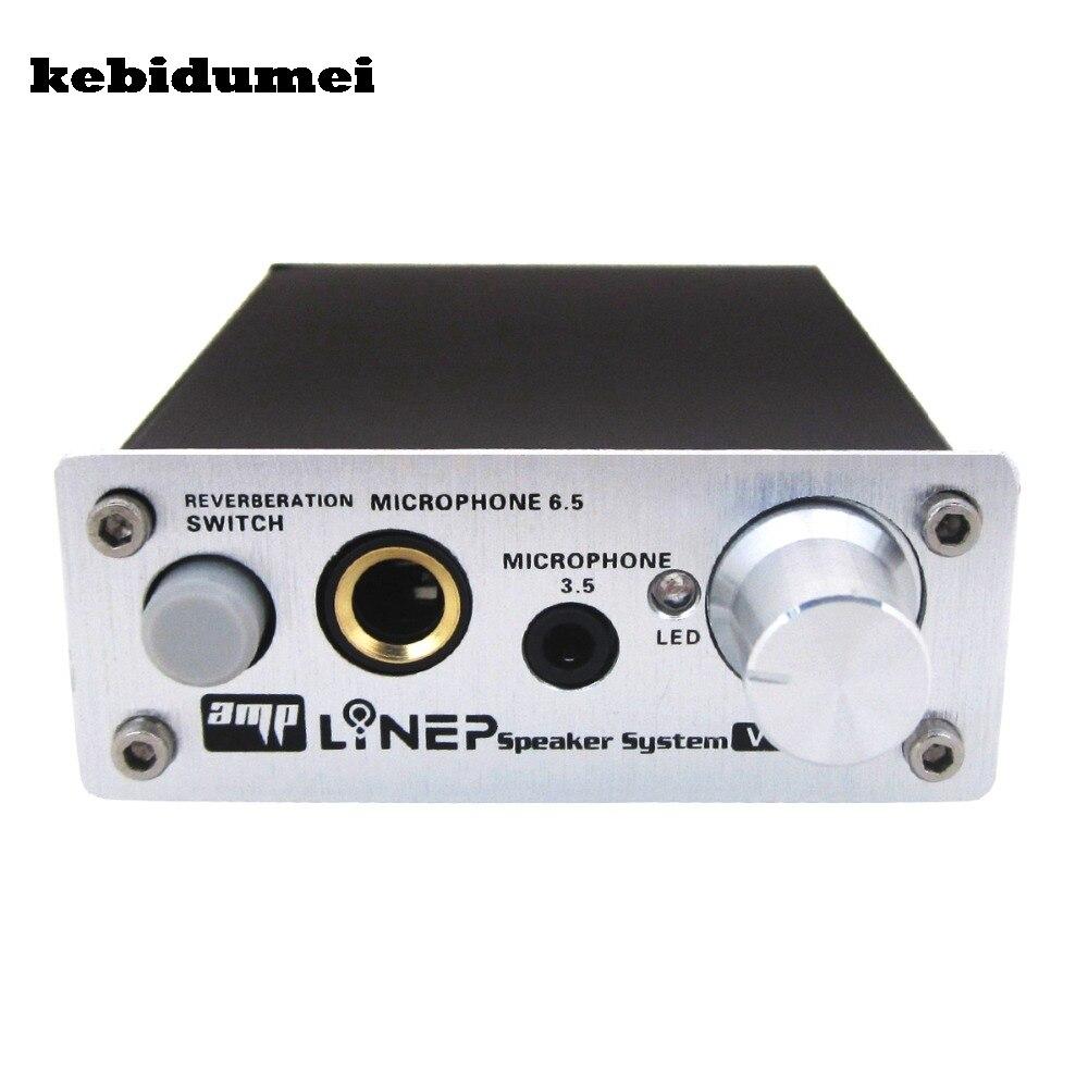 Kebidumei a907 Микрофон Звук Усилители домашние ультра компактный 2 канала ПК микрофон Проводной Звук Усилители домашние аудио слот для караоке
