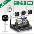 "ANRAN Wireless Wifi Surveillance NVR Kit 7"" LCD Screen CCTV HD 720P Outdoor Waterproof Security Camera System 1TB HDD"