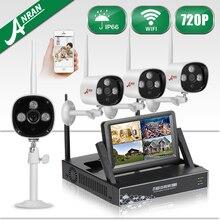 ANRAN Беспроводной Wi-Fi Видеонаблюдения NVR Комплект 7 «ЖК-Экран CCTV HD 720 P Открытый Водонепроницаемый Камеры Системы Безопасности 1 ТБ HDD