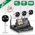 "Anran nvr kit de vigilancia inalámbrica wifi 7 ""pantalla lcd sistema de cámara de seguridad cctv hd 720 p impermeable al aire libre 1 tb de disco duro"