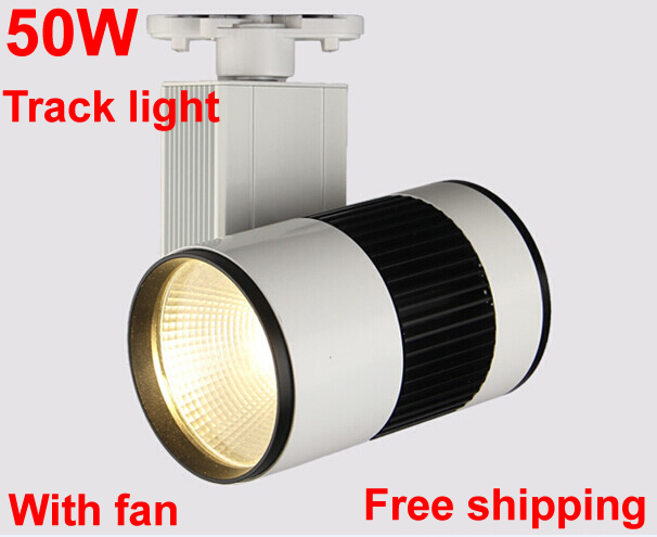 LED track light cob 50W 5500LM 110V 220V Track rail Led spot light Clothing store lights Industrial lighting Wall lamps