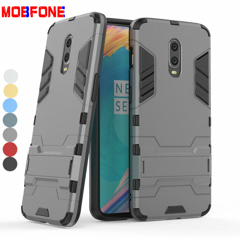 For <font><b>OnePlus</b></font> 6T <font><b>A6013</b></font> Coque Shockproof Hard Rugged PC+TPU Phone Case For <font><b>OnePlus</b></font> 6 A6003 Armor Protective Back Cover Fundas Capa image