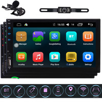 2 DIN In Dash Car Stereo 7 Touch Screen with Built in HD Radio, Autoradio Double 2 Din Android Carplay Head Unit Support GPS