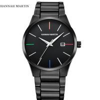 Luxury Men Watch Fashion Military Watch Stainless Steel Analog Date Quartz Wrist Watch Male Clock Top