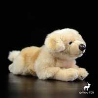 Stuffed Toy Store Golden Retriever Lying Dogs Doll Cute Animal Real Life Plush Toys Baby Pillow