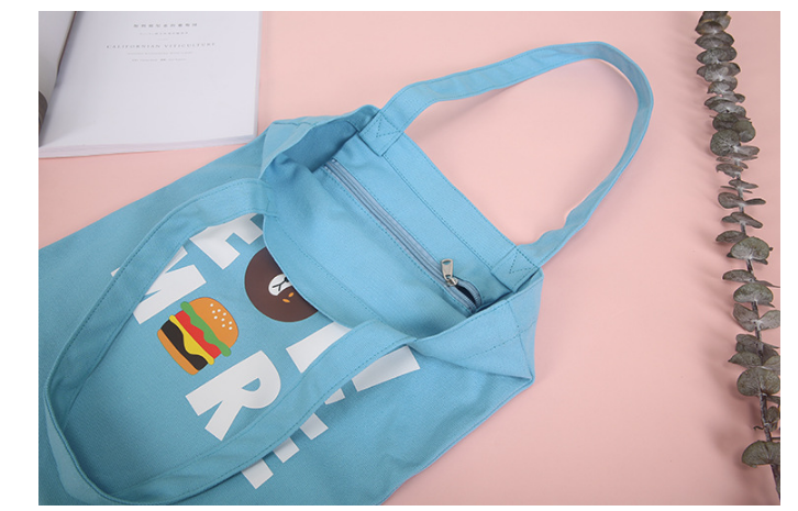 New Cute Cartoon Animals Bear Canvas Tote Bags For Girls Korean Style Sweet Women Simple Casual Beach Bags Shopping Handbag L402