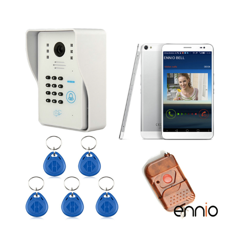 Free Shipping Wireless Video Door Phone WiFi DoorBell Touch Keypad Card Reader For Home Intercom System IR Camera WIFI003IDS ennio touch key wireless video door phone wifi doorbell wifi intercom home intercom system ir camera