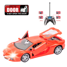 Compare Prices RC 1:18 Flashing RC Car 4CH RC Drift Model Remote Control Drift Cars Rechargeable Battery One Key Open Door With Radio Control!!