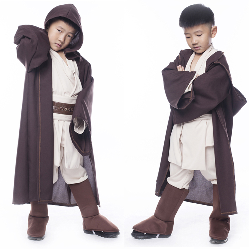 Star Wars Day Force Awakens Kids Cosplay Costumes Halloween Luxury Fancy Hooded Robe Clothing Set May The Force Be with You