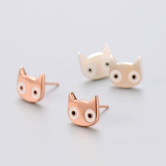 925 Sterling Silver Cat Earring