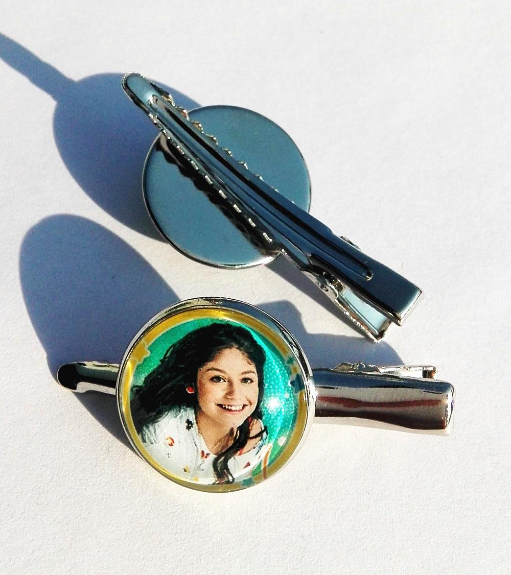 24 pcs (Mixed estilos 8) super pop cantor Luna Luna Hairwears do Elenco de Soja de Soja Foto de torque prata barrette grampo Dos Desenhos Animados de vidro