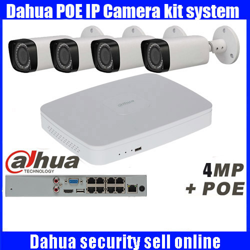 <font><b>Dahua</b></font> 8CH 1080P POE NVR4108-8P kit 4pcs <font><b>4MP</b></font> <font><b>IP</b></font> <font><b>camera</b></font> IPC-HFW4300R-Z P2P NVR system with 3TB HDD Surveillance CCTV System Kit image