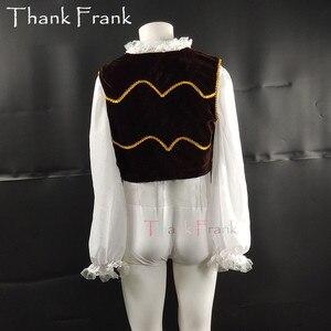 Image 3 - New Male Ballet Costume Set Including Long Sleeve Leotard And Vest Custom Made Professional Boy Men Prince Ballet Dance Costumes