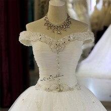 Sparky винтажное свадебное платье кружевное платье с блестками Vestido de Noiva Невеста-Принцесса платья с открытыми плечами на заказ свадебные платья