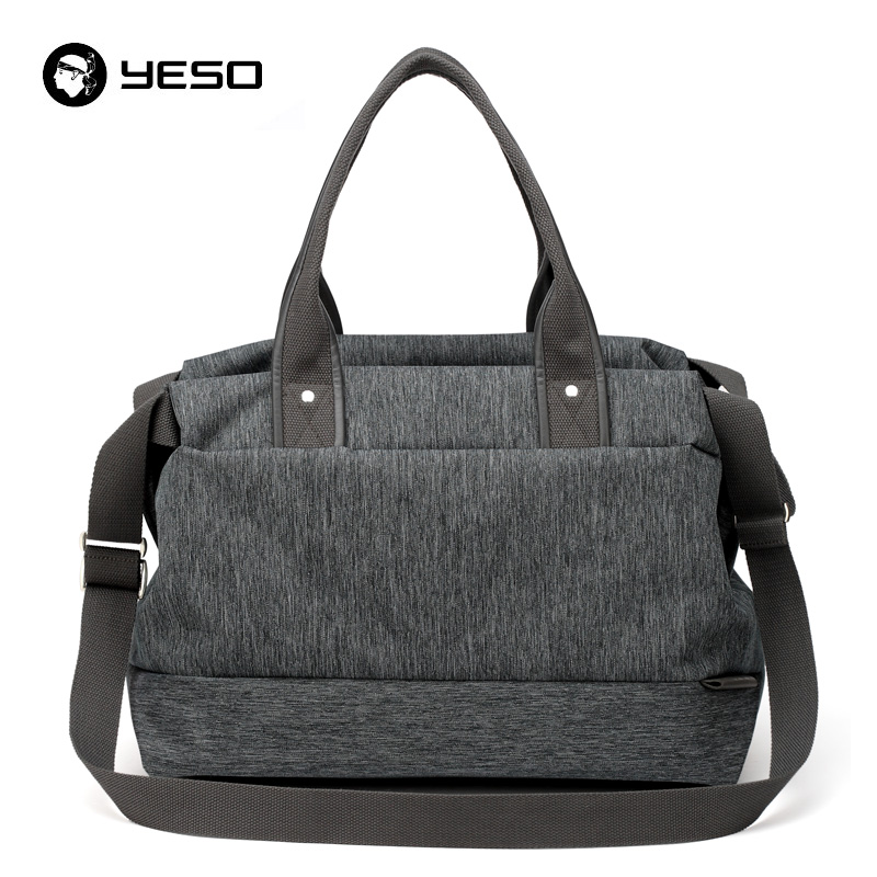 YESO Large Capacity Travel Bag Casual Tote Travel Duffle Bag 15.6 17 Inch Laptop Messenger Shoulder Bags Waterproof Unisex Tote