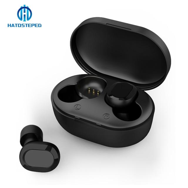 Mini Bluetooth 5.0 Tai Nghe Di Động TWS Tai Nghe Nhét Tai Không Dây 3D Âm Thanh Stereo Với Âm Mic Cầm Tay Thể Thao Tai Nghe Tự Động Ghép Nối Ông