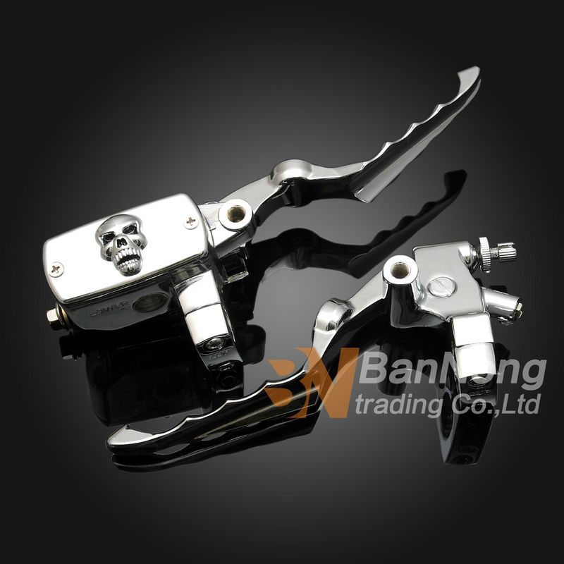 Free shipping 25mm Motorcycle Skull Clutch Lever brake pump Master Cylinder For HONDA Magna 250 750 Steed 400 600 Shadow 400 750 цена