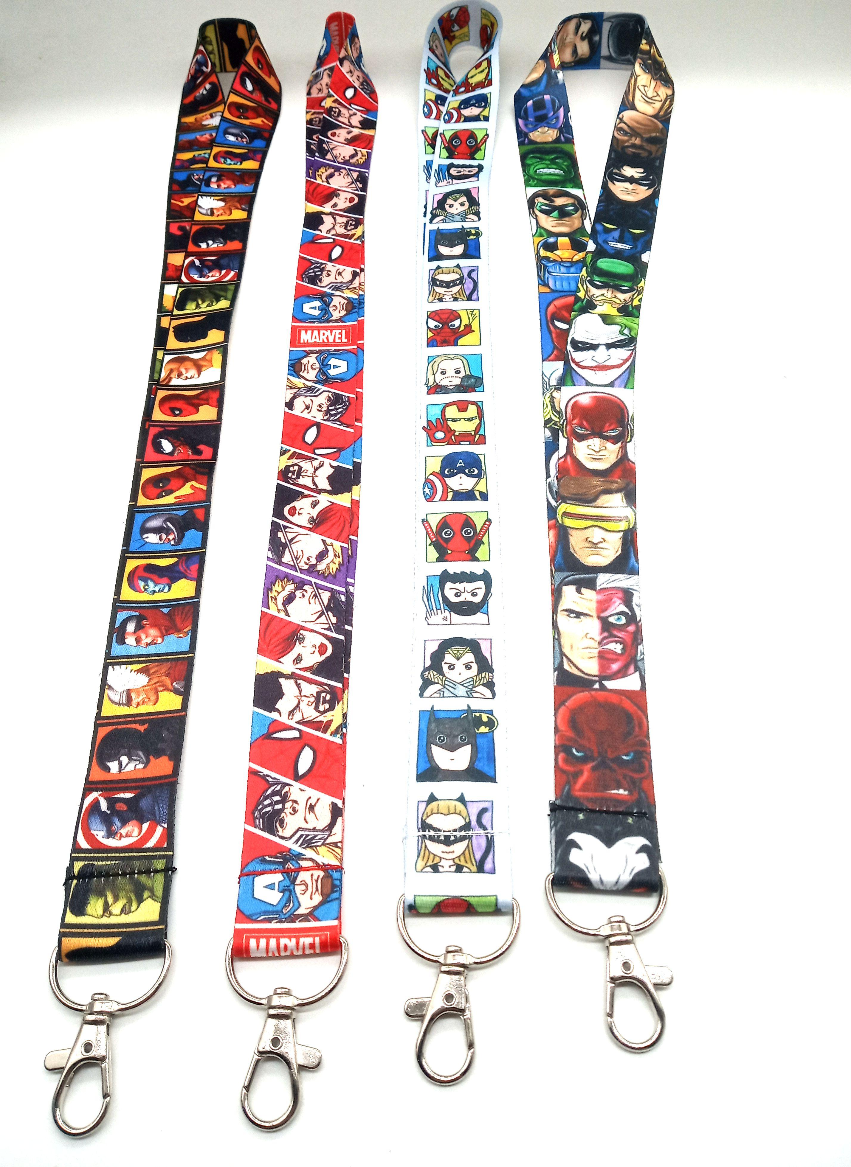 10pcs cartoon stitch Neck Strap Lanyard Key chain Phone Card Badge Holder