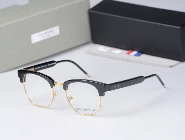 0a135f4022 THOM BROWNE TB016B male Ms. semi-circular frame myopia frame retro fashion  Glasses oculos lente transparente computer glasses