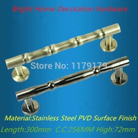 300mm 304 Stainless Steel Wooden Door Pull High Quality Antique Brass Pvd Finish Wooden Door Hardware
